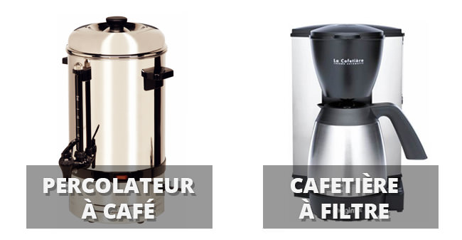 differences percolateur et cafetiere à filtre